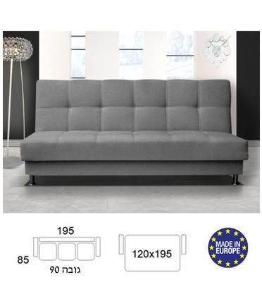 ספה מעוצבת נפתחת למיטה זוגית עם ארגז מצעים HOME DECOR דגם מיכל