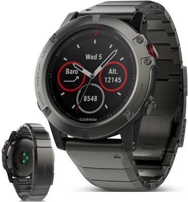 שעון דופק כולל GPS מבית GARMIN דגם fenix 5X Sapphire