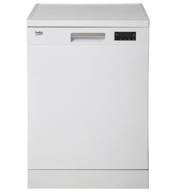 מדיח כלים רחב ל-12 מערכות כלים 6 תוכניות צבע לבן מבית BEKO דגם DFN- 16210W