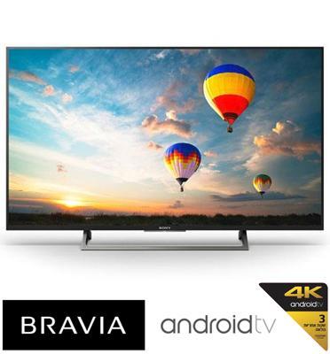 """טלויזיה """"75 4K Android TV בעיצוב Slice of living תוצרת SONY. דגם KD-75XE8596BAEP"""