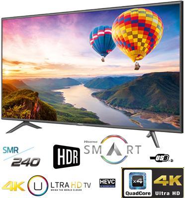 """טלוויזיה SMART LED TV מסך 4K """"55 תוצרת HISENSE דגם 55N3000UW"""