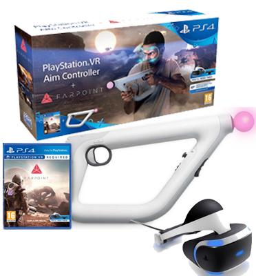 קסדת מציאות מדומה לפלייסטיישן 4 PLAYSTATION VR HEADSET דגם CUH-ZVR1 +רובה מתנה !