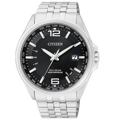 שעון סולארי מתכוונן עצמאית עשוי פלדת אל חלד וזכוכית ספיר עד 100M מבית CITIZEN דגם CI-CB001088E