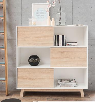 מזנון ארון חפצים, ספרים ועוד עשוי עץ סנדביץ' MDF מבית BRADEX דגם APART-5