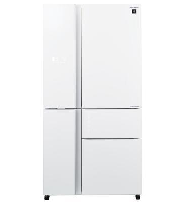מקרר 5 דלתות בנפח 661 ליטר No-Frost מנוע אינוורטר זכוכית לבנה תוצרת SHARP דגם SJ-R9712