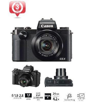 מצלמה קלאסית עם תוצאות פרימיום ושליטה מוחלטת תוצרת Canon דגם PowerShot G5 X