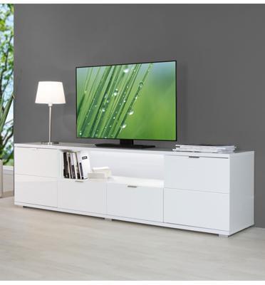 מזנון טלוויזיה מעוצב עשוי MDF גימור שלייפלאק מבית BRADEX דגם Glossy-TV