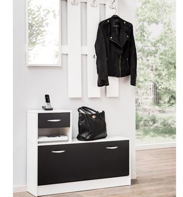 מתלה בגדים מעוצב עם מראה ושידת נעליים מבית BRADEX דגם RUDOLF