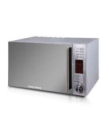 תנור מיקרוגל נירוסטה דלת מראה 30 ליטר, משולב גריל תוצרת MORPHY RICHARDS דגם 44567T מתצוגה!