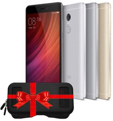 """סמארטפון 5.5"""" 64GB+4GB RAM מצלמות 13MP+5MP מבית Xiaomi דגם Redmi Note 4x 64GB + חבילת מתנות"""