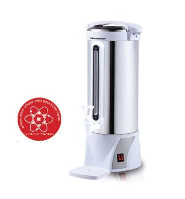 מיחם נירוסטה חשמלי בקיבולת 10 ליטר 50 כוסות, לשומרי שבת תוצרת Kitchen Chef דגם 5862T מתצוגה!