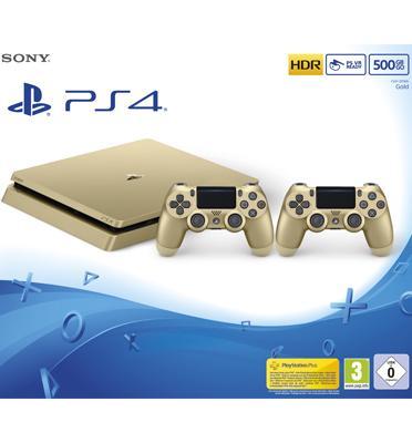 הכירו את ה-PS4 החדש! פלייסטיישן 4 דק יותר, קל יותר וחסכוני יותר! זהב 500GB דגם CUH-2016A/DS4GO