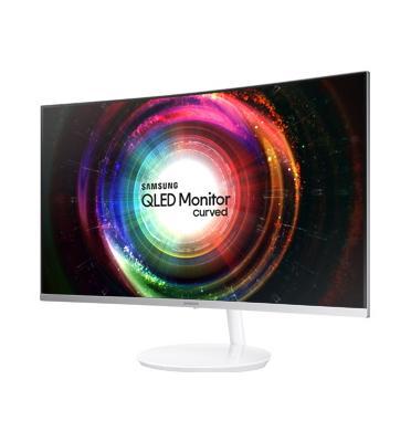 """מסך מחשב מקצועי קעור 31.5"""" צבע לבן תוצרת Samsung דגם C32H711QEM"""