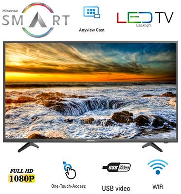 "טלוויזיה 49"" SMART LED TV Full HD תוצרת Hisense דגם 49N2170PW"