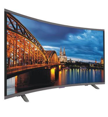 "טלוויזיה 40"" מסך קעור CURVED LED SMART TV תוצרת PEERLESS דגם 4030"