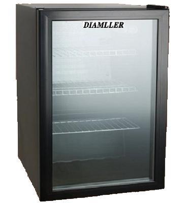 מקרר משרדי ללא מקפיא  70 ליטר שקט במיוחד עם חזית שקופה תוצרת DIAMLLER דגם BCH70G