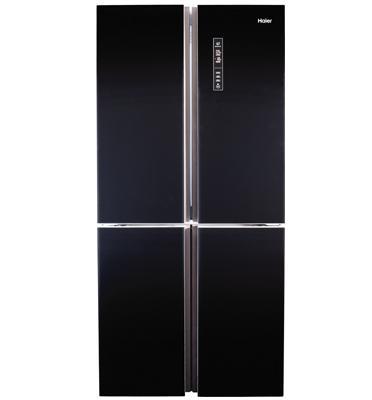 מקרר 4 דלתות בנפח 651 ליטר No Frost ציפוי זכוכית שחורה תוצרת .Haier דגם HRF620FB