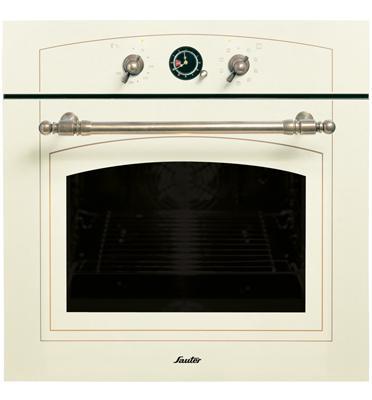 תנור אפיה בנוי בעיצוב רטרו כפרי SAUTER דגם SAI1078 צבע קרם