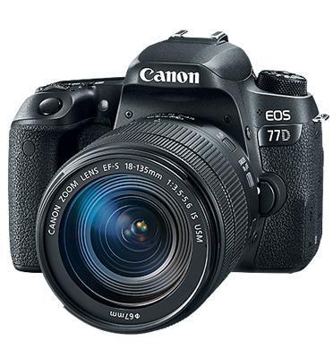 """מצלמה רפלקס DSLR 24.2MP מסך 3"""" כולל עדשה 18-135IS תוצרת CANON דגם EOS 77D"""