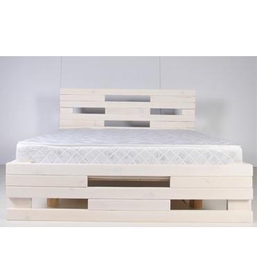 מיטה עשויה עץ אורן מלא חזק וטוב המשופר בצבע המיוחד לעץ האורן חזק וטוב מבית אולימפיה דגם 5001