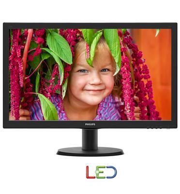 """מסך מחשב LED איכותי בגודל 23.6"""" עם חיבור VGA ויחס ניגודיות גבוה מבית PHILIPS דגם 243V5QHABA"""
