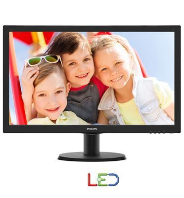 """מסך מחשב LED איכותי בגודל 23.6"""" עם חיבור VGA ויחס ניגודיות גבוה מבית PHILIPS דגם 243V5QSBA"""