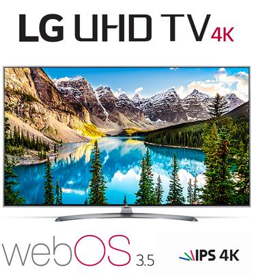 "טלוויזיה ""55  LED Smart TV 4K Ultra HD עם פאנל IPS תוצרת LG דגם 55UJ670Y"