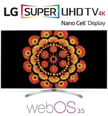 """טלוויזיית """"55 LED Smart TV 4K Ultra HD ופאנל IPS בטכנולוגית Nano Cell תוצרת .LG. דגם 55SJ800Y"""