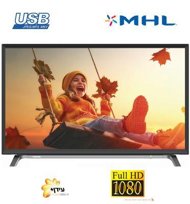 """טלוויזיה 43"""" LED Full HD TV 200 Hz AMR תוצרת TOSHIBA דגם 43L3750 עם 3 שנות אחריות!!!"""
