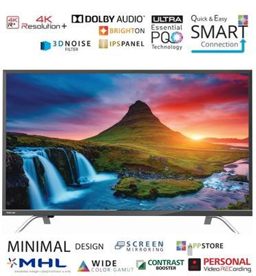"""טלוויזיה 55"""" UHD 4K Smart LED TV AMR+ 400 Hz תוצרת TOSHIBA דגם 55U7650 כולל מתקן קיר והתקנה!"""