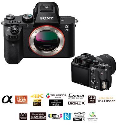 """מצלמת סטילס Full Frame 35 מ""""מ מסדרת אלפה בגוף עשויי מגנזיום מבית SONY דגם ILC-E7M2B"""