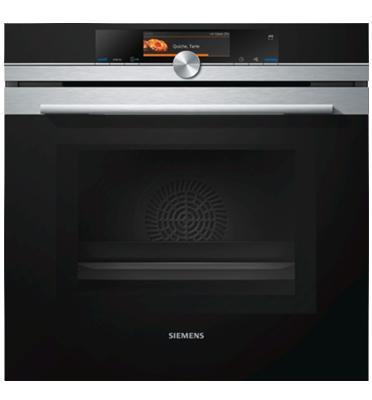 תנור בנוי פירוליטי PulseSteam משולב מיקרוגל נירוסטה מסדרת iQ700 תוצרת SIEMENS דגם HN678G4S1