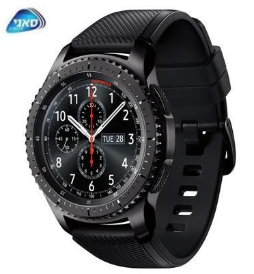 שעון יד חכם כולל GPS מובנה ורמקול מבית Samsung דגם Gear S3 Frontier