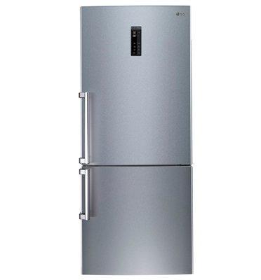 מקרר עם מקפיא תחתון בנפח 475 ליטר מדחס אינוורטר גימור נירוסטה תוצרת LG דגם GRB471