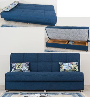 ספה נפתחת למיטה נפתחת בקלות למיטה וכוללת גם ארגז מצעים מבית SIRS דגם AURORA