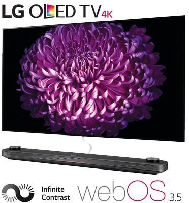 """טלוויזיה """"77 בטכנולוגיית OLED ברזולוצית 4K Ultra HD עם ניגודיות אינסופית מבית .LG דגם OLED77W7Y"""