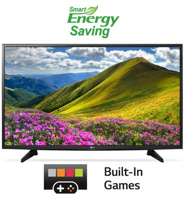 """טלוויזיה """"32 LED עם אינדקס עיבוד תמונה PMI 300 וטיונר דיגיטלי מבית LG דגם 32LJ510Z"""