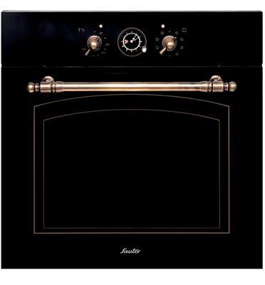 תנור אפיה בנוי בעיצוב רטרו כפרי SAUTER דגם SAI1078 צבע שחור גרפיט