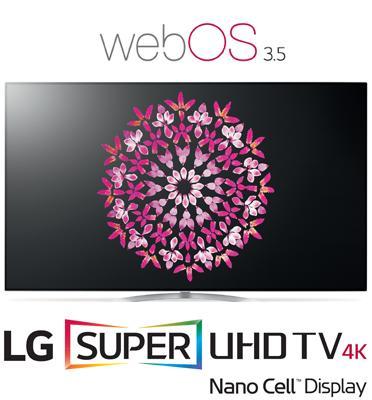 """טלויזיה """"65 LED חכמה Smart TV ברזולוציית 4K Ultra HD בטכנולוגית NanoCell תוצרת .LG דגם 65SJ950Y"""