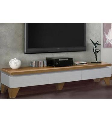 מזנון לסלון בגימור אפוקסי לבן משולב עץ מעוצב במראה יוקרתי לשדרוג הסלון מבית LEONARDO דגם לאגרדה