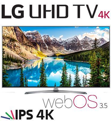 """טלוויזיה חכמה """"70 LED Smart TV עם פאנל IPS, אינדקס עיבוד תמונה PMI 1900 מבית LG. דגם 70UJ675Y"""
