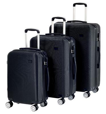 סט מזוודות קשיחות כולל ידית טרולי טלסקופית 3 יח' | 28 | 24 | 20 אינטש