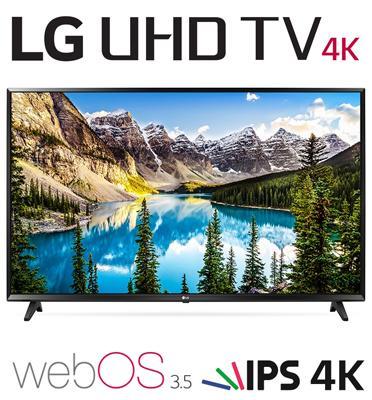 """טלויזיה """"55 4K Ultra HD LED Smart TV עם פאנל IPS עיבוד תמונה PMI1200 מבית LG דגם 55UJ630Y"""