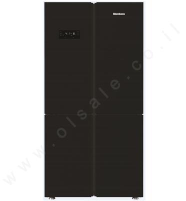 מקרר 4 דלתות 535 ליטר גימור זכוכית שחורה מקפיא תחתון Blomberg דגם KQD1620