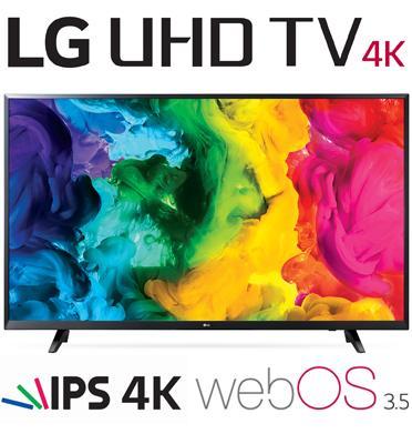 """טלויזיה """"65 LED Smart TV 4K Ultra HD עם פאנל IPS תוצרת LG דגם 65UJ620Y"""