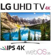 """טלוויזיה חכמה """"55 LED Smart TV ברזולוציית 4K Ultra HD עם פאנל IPS תוצרת LG דגם 55UJ752Y"""