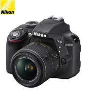 מצלמת DSLR 24.2MP חיישן CMOS + עדשה AF-P DX 18-55MM PVR תוצרת NIKON דגם D3300