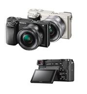 מצלמה 24.3MP מסדרת Alpha A6000 עדשה 16-50 תוצרת Sony דגם ILC-E6000LB + מתנה