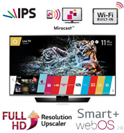"טלוויזיה 49"" LED Smart TV Slim FHD 800pmi עם פאנל IPS+ממשק webOS 2.0 תוצרת LG דגם 49LF630Y"