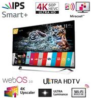 """טלוויזיה 65"""" LED Smart TV 3D FHD ברזולוציית 4K Ultra HD תוצרת LG. דגם 65UF850Y"""